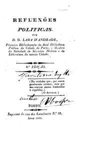 Reflexões politicas. 2a ediçao