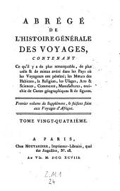 Abrege de l'histoire generale des voyages, ... enrichie de-cartes geographiques et de figures, (continue par Victor Delpuech de Comeiras.)- Paris, Moutardier 1780-1801