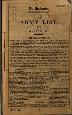 A List of the Officers of the Army and of the Corps of Royal Marines PDF