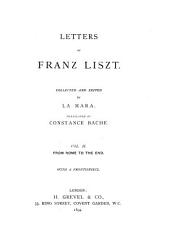Letters of Franz Liszt: From Rome to the end
