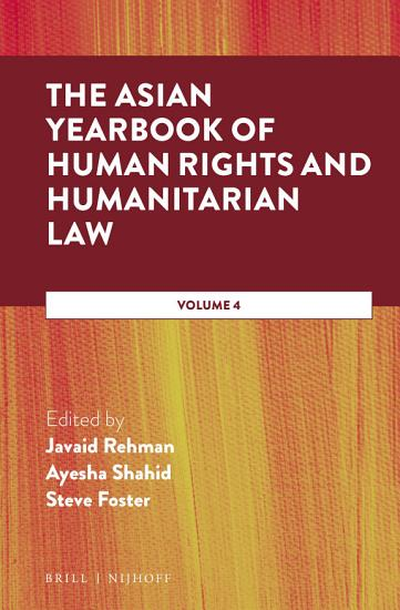 The Asian Yearbook of Human Rights and Humanitarian Law PDF