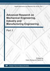 Advanced Research on Mechanical Engineering  Industry and Manufacturing Engineering PDF