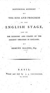 Historical account of the English Stage
