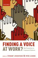 Finding a Voice at Work  PDF