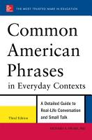 Common American Phrases in Everyday Contexts  3rd Edition PDF