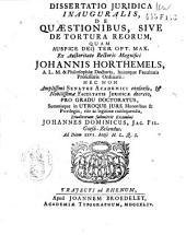 De quaestionibus sive de tortura reorum