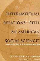 International Relations  Still an American Social Science  PDF