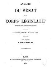 Annales du Sénat et du Corps législatif: Volume5