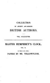 Master Humphrey's Clock: Volume 2