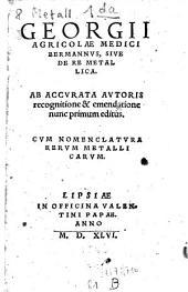 Bermannus: sive de re metallica