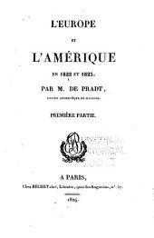 L'Europe and l'Amérique en 1822 et 1823: Volume1