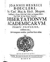 Joannis Henrici Boecleri ... Dissertationes academicae: Volume 2
