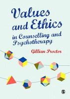 Values and Ethics in Counselling and Psychotherapy PDF