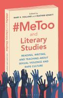 MeToo and Literary Studies PDF