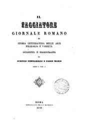 Il Saggiatore, giornale romano, diretto e compilato da A. Gennarelli e P. Mazio: Volumes 1-2