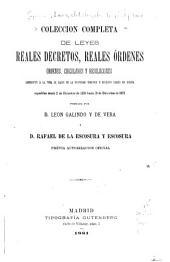 Colección completa de leyes reales decretos, reales órdenes: órdenes, circulares y resoluciones referentes á la toma de razon de la propiedad inmueble y derechos reales en España expedidas desde 2 de Diciembre de 1339 hasta 31 de Diciembre de 1873