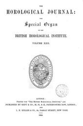 the horological journal the special organ of the british horological institute