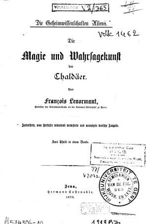 Die Magie und Wahrsagekunst der Chald  er PDF