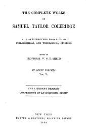 The Complete Works of Samuel Taylor Coleridge: Volume 5