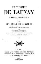 Lettres parisiennes: Volume2