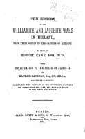 The History of the Williamite and Jacobite Wars in Ireland   from Their Origin to the Capture of Athlone PDF