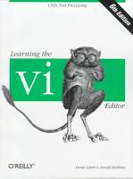 Learning the Vi Editor PDF