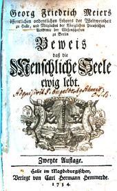 Georg Friedrich Meiers ... Beweis, dass die menschliche Seele ewig lebt