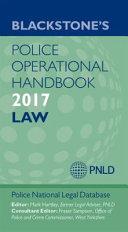Blackstone s Police Operational Handbook 2017 PDF