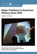 Major Problems in American History Since 1945 PDF