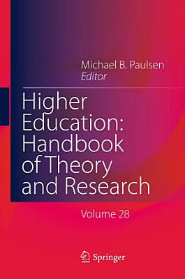 Higher Education  Handbook of Theory and Research PDF