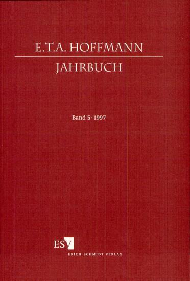 E  T  A  Hoffmann Jahrbuch 1997 PDF