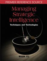 Managing Strategic Intelligence  Techniques and Technologies PDF
