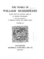 The Works of William Shakespeare  Much ado about nothing  As you like it  Twelfth night PDF