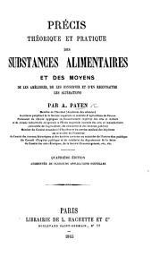Des substances alimentaires et des moyens de les améliorer, de les conserver, et d'en reconnâitre les altérations