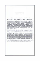 Berkeley Women s Law Journal PDF