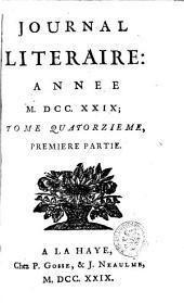 Journal littéraire: Volume14;Volume1719