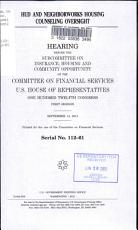 HUD and NeighborWorks Housing Counseling Oversight PDF
