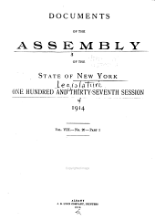 Documents of the Assembly of the State of New York: Volume 8