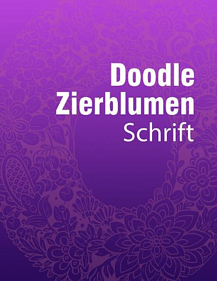 Doodle Zierblumen Schrift PDF