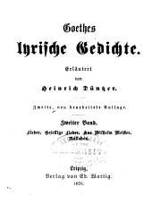 Erläuterungen zu Goethes Werken: Egmont. 8. Clavigo und Stella