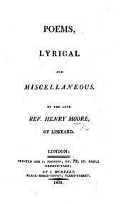 Poems, lyrical and miscellaneous. Edited by J. Aikin