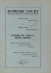 Supreme Court Appellete Division Department