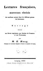 Lectures françaises, morceaux choisies des meilleurs auteurs dans les differens genres de Litteratur