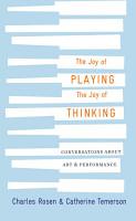 The Joy of Playing  the Joy of Thinking PDF