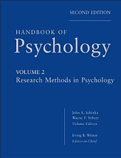 Handbook of Psychology  Research Methods in Psychology Book