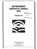 Environment Abstracts Annual Book PDF