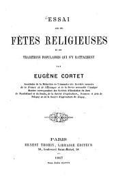 Essai sur les fêtes religieuses et les traditions populaires qui s'y rattachent