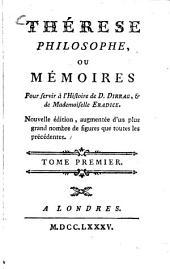 Thérèse philosophe, ou Mémoires Pour servir à l'Histoire de D. Dirrag, et de Mademoiselle Eradice: Volume1
