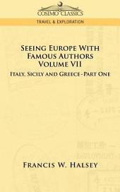 Seeing Europe with Famous Authors: Volum