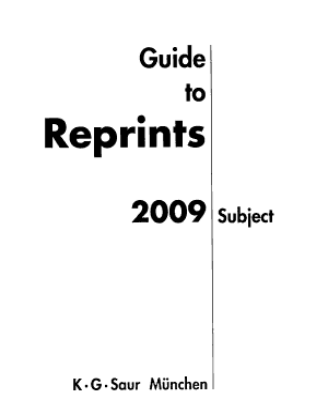 Guide to Reprints PDF